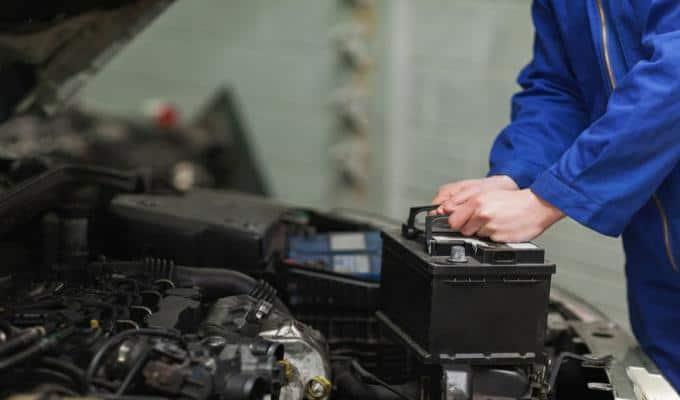 Placing car Battery